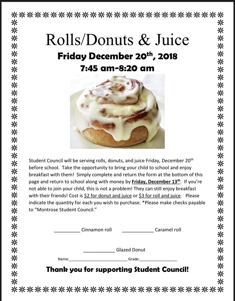 Student Council Roll Fundraiser