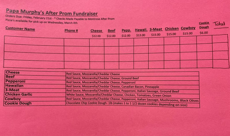 After-Prom Fundraiser